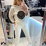 Жіночий спортивний костюм, турецька двунить, р-р 42-44; 44-46; 48-50; 50-52 (молочний), фото 2