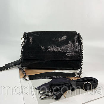 Женская замшевая сумка на и через плечо с лазерной обработки Farfalla Rosso