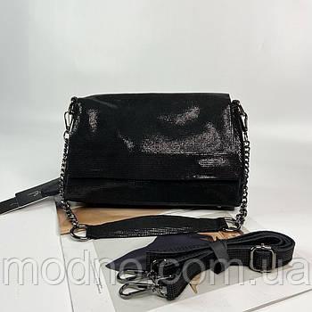 Жіноча замшева сумка на та через плече з лазерної обробки Farfalla Rosso