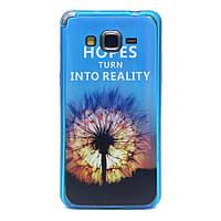 Чехол накладка для Samsung Galaxy Grand Prime SM-G530H акриловый с силиконом, Одуванчик