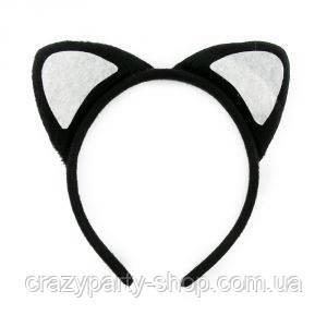 Ушки кошки чёрные карнавальные