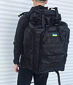 Якісний тактичний рюкзак на 65 літрів, чорний
