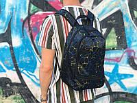 Спортивний рюкзак синього кольору з візерунками, фото 1