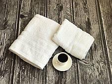 Белый набор махровых полотенец