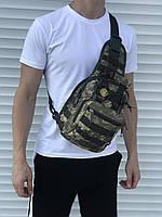Чорна надійна сумка через плече, камфляжная, фото 1