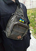 Чорна надійна сумка через плече