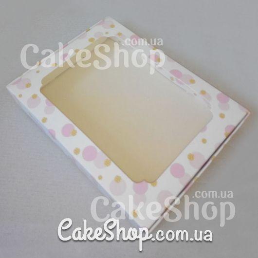 Коробка для десертів з малюнком 20*15*3 Рожева