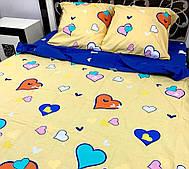 Комплект постельного белья полуторка с сердечками