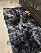 Домашний коврик травка графит