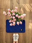 Маленький килимок в кімнату синій (яскравий)