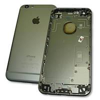 Задняя крышка корпуса iPhone 6S серая + внешние кнопки и держатель SIM карты (оригинальные комплектующие), фото 1