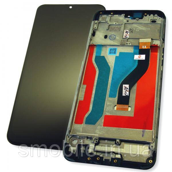 Samsung Дисплей Samsung A107F A107M Galaxy A10s 2019 з сенсором і рамкою, чорний (оригінальна матриця)