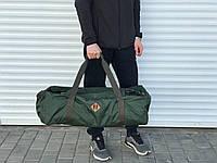 Якісна дорожня сумка-рюкзак, хакі (60 л.)