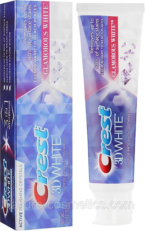 Отбеливающая зубная паста Crest 3D White Glamorous white 116гр