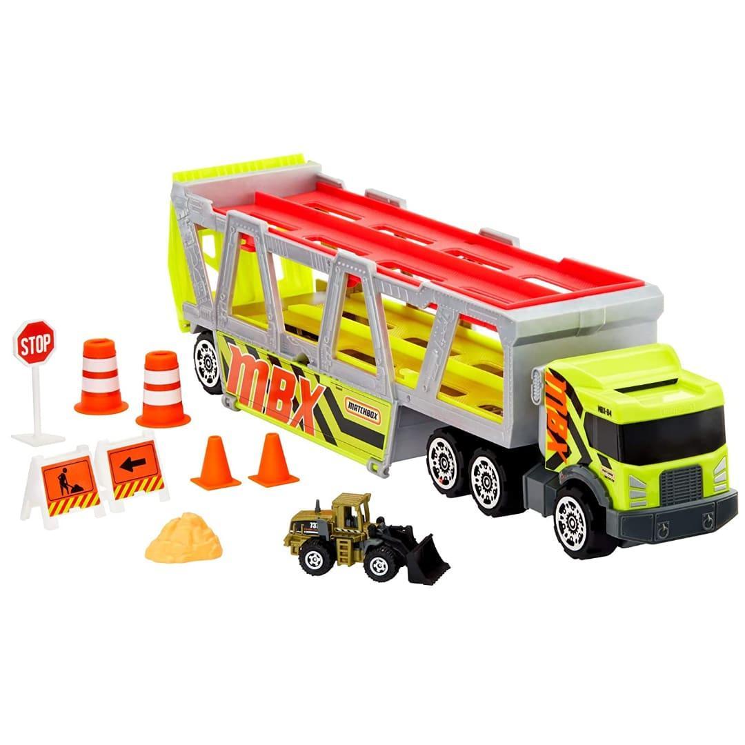 Трейлер-автовоз на 20 машинок Matchbox MBX Construction Hauler