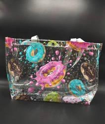 Прозрачная стильная сумка - пончики