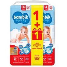 Подгузники Bambik Бамбик Mega №4 (7-18 кг) 90 шт