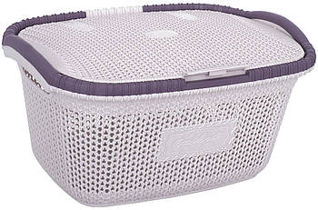 Корзина для белья с крышкой VIOLET HOUSE POWDER Виолетта (6513101)