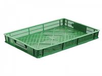 Ящик перфорований 600х400х70 зелений втор.
