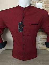 Чоловіча сорочка з довгим рукавом, стійка- G-Port*300