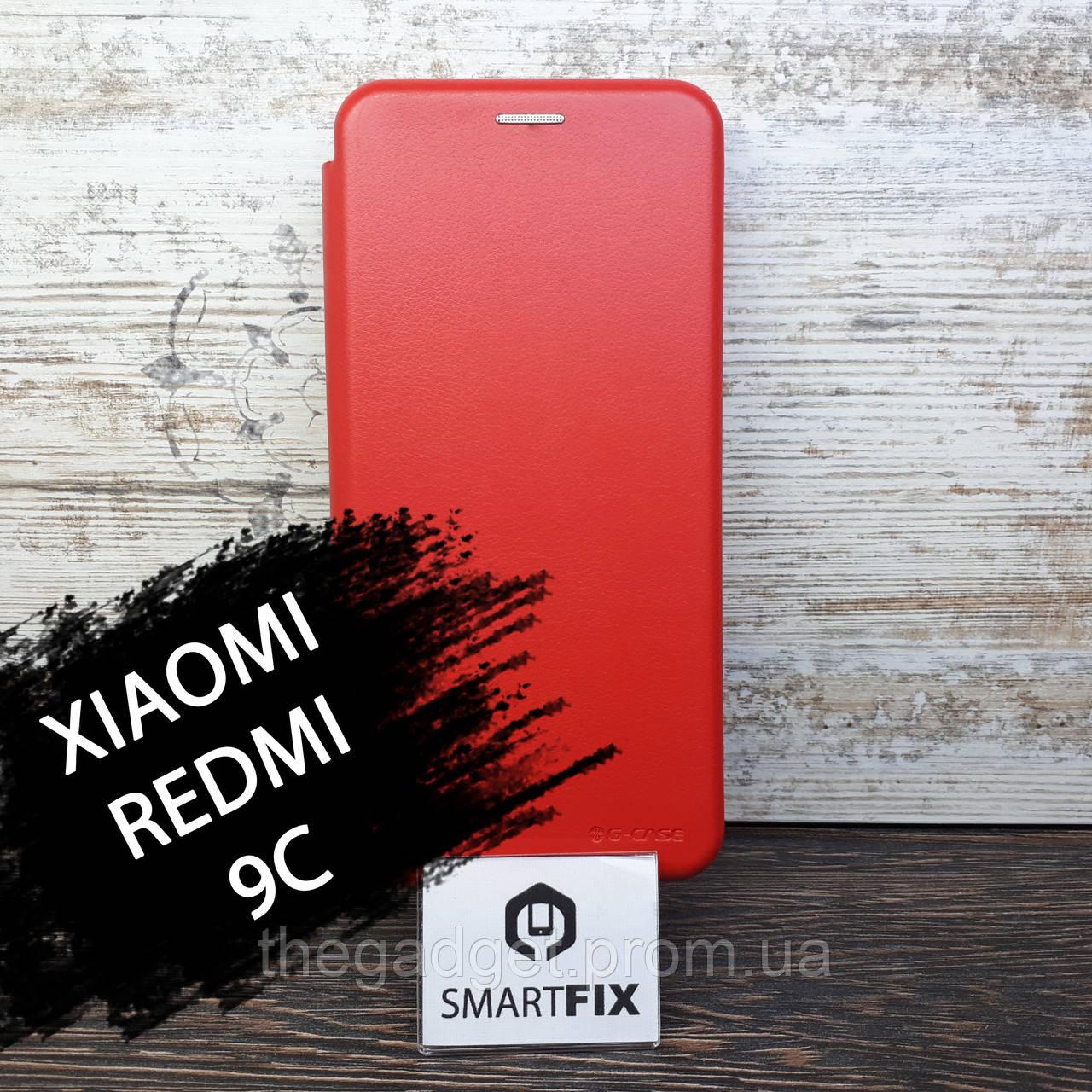 Чохол книжка для Xiaomi Redmi 9C G-Case Червоний