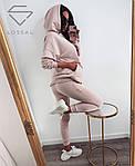 Женский спортивный костюм, турецкая двунить, р-р 42-44; 44-46 (пудровый), фото 4