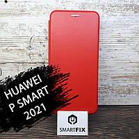 Чехол книжка для Huawei P Smart 2021 G-Case Красный