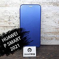 Чехол книжка для Huawei P Smart 2021 G-Case Синий