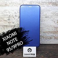 Чехол книжка для Xiaomi Redmi Note 9S/9 Pro G-Case Синий