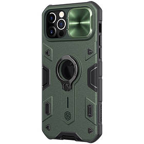 "TPU+PC чехол Nillkin CamShield Armor (шторка на камеру) для Apple iPhone 12 Pro Max (6.7"") Green"