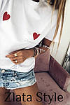 Жіноча футболка, турецький кулір, р-р універсальний 42-46 (білий), фото 2