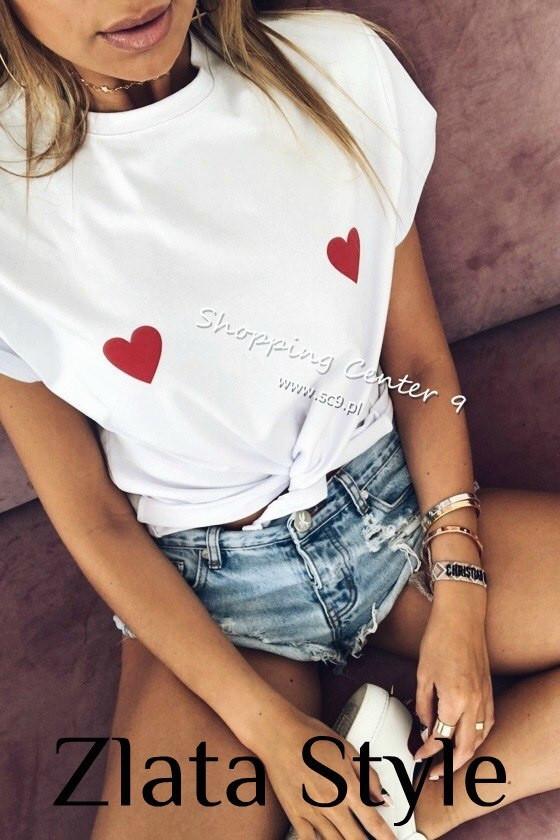 Жіноча футболка, турецький кулір, р-р універсальний 42-46 (білий)