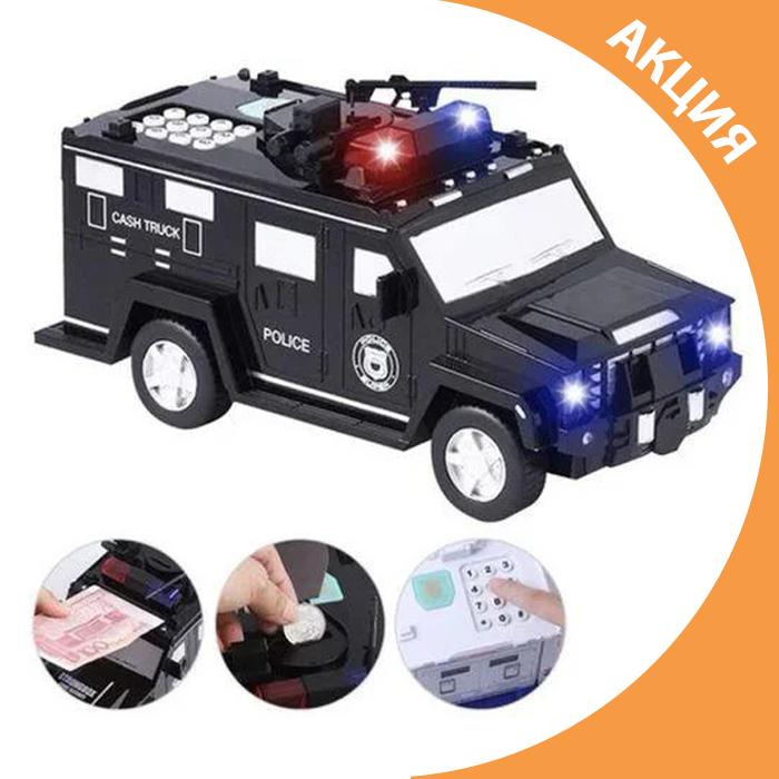 ✨ Іграшка машина скарбничка сейф вантажівка з кодовим замком і відбитком пальця ✨