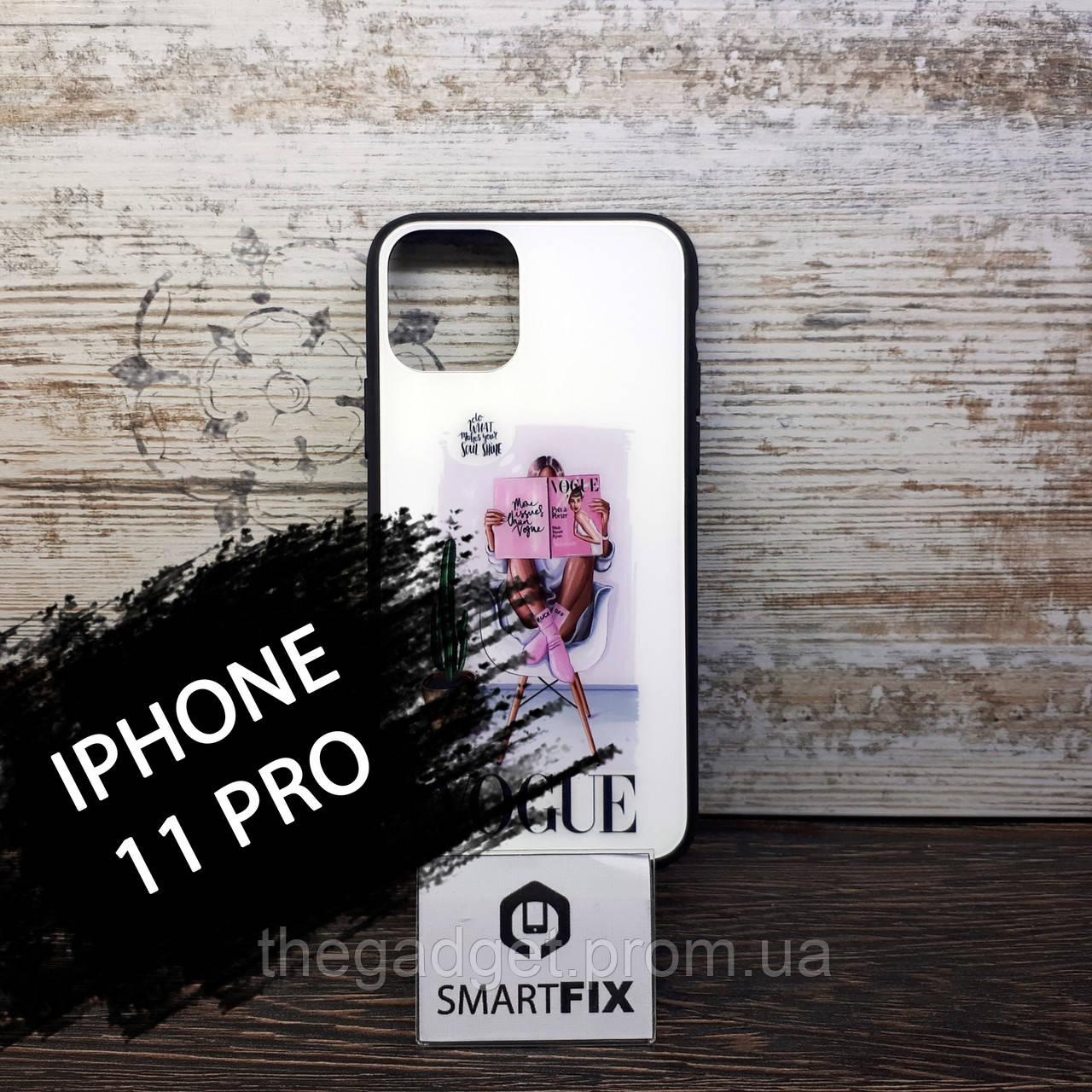 Силіконовий чохол з малюнком під склом для iPhone 11 Pro Girls Case дизайн №5