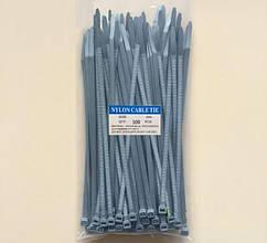 Кабельная стяжка 3*100  (2,5*100) нейлоновая серого цвета  100шт.