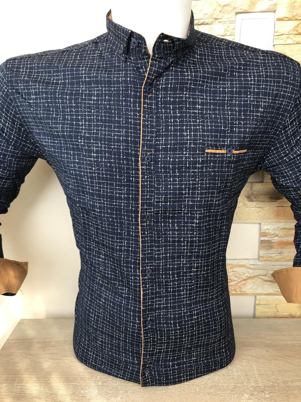 Приталенна сорочка G-Port*670 з принтом