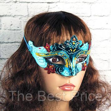 Венецианская маска Луиза (голубая)