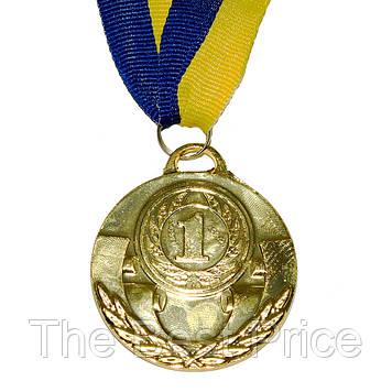 Медаль наградная Д5см 1 место Золото