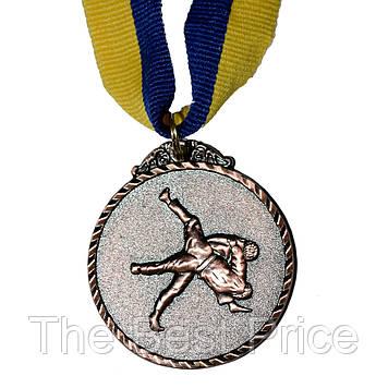 Медаль наградная Единоборства Д5см Бронза