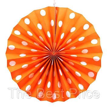 Віяловий коло (картон) 30см (помаранчевий 0011)