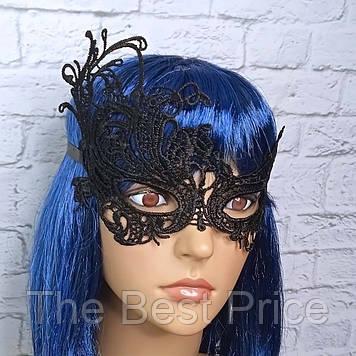 Кружевная маска Загадка жар-птица (черная)