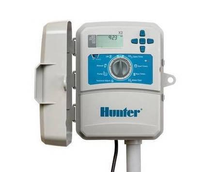 Hunter X2-401-E контроллер на 4 зоны полива (наружный)  с подключением к WI-FI, пульт управления поливом, фото 2