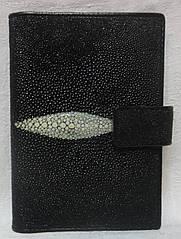Обложка на паспорт и авто-документы  из кожи ската.