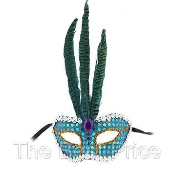 Венеціанська маска Фантазія (блакитна)