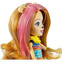 Кукла Enchantimals Энчантималс Стильный салон львенка Лейси меняет цвет волос GTM29, фото 4