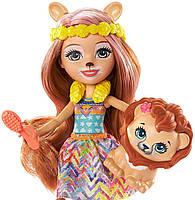 Кукла Enchantimals Энчантималс Стильный салон львенка Лейси меняет цвет волос GTM29, фото 3