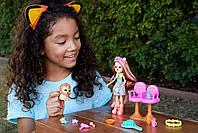 Кукла Enchantimals Энчантималс Стильный салон львенка Лейси меняет цвет волос GTM29, фото 9