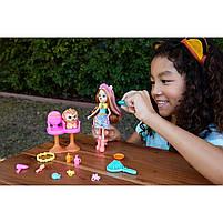 Кукла Enchantimals Энчантималс Стильный салон львенка Лейси меняет цвет волос GTM29, фото 8