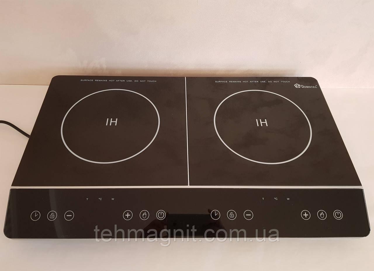 Индукционная плита  Domotec MS-5872 (две конфорки по 2000 Вт)