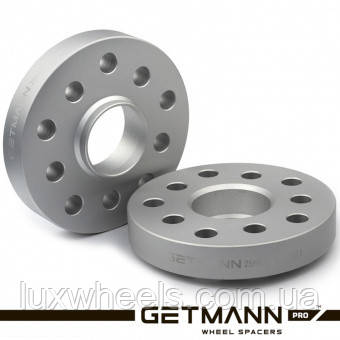 Колісна проставка GETMANN 25мм PCD 5x112/100 DIA 57.1 для Audi, Chevrolet, Seat, Skoda, Volkswagen (Лита)